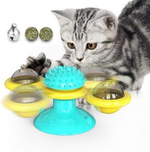 brinquedo do gato moinho brinquedos Turntable Traquina interativos interativos com catnip Coçar Tickle pet brinquedos bola Cat Supplies