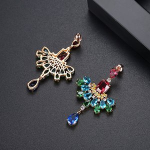 Fashion-e New Styles 2018 Fashion Women Girl Jewelry Water Drop Elegant Multicoloured Earrings Delicate Gorgeous Sumptuous