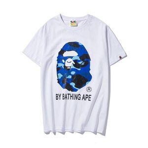 19ss Mens designer t-shirt camo Apes head a bathing tshirt ape hip hop pullover corto 19BAPE camicie di cotone vetements per l'estate