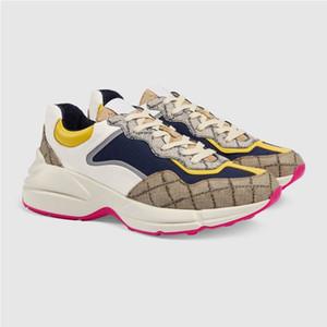 2020 Colecção Homens Mulheres Rhyto Sneaker Emblemático Impresso Sneaker instrutor Retro Fashion Dress pai calça as sapatilhas 35-45