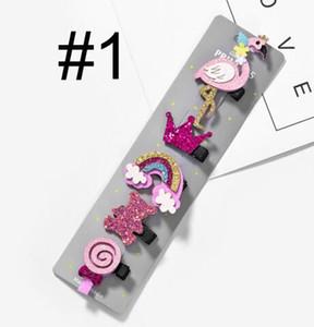 fille accessoire cheveux fille conception licorne Flamingo Couronne Barrettes fille cheveux Accessoires enfants tondeuse à cheveux de Noël