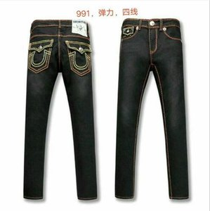 Ücretsiz Kargo Gerçek Yüksek kalite sıcak Erkek Robin Rock Revival Jeans Kristal Studs Denim Pantolon Tasarımcılar Pantolon Erkek büyüklüğü 30-40 80899