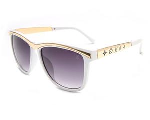1581 gafas de sol de metal Gafas Gold Flash lente de cristal para mujer para hombre del espejo unisex Glasse solLV