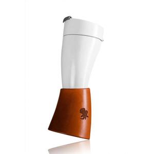 230ml portátil cabra Cuerno taza de agua taza de acero inoxidable Liner aislamiento al vacío de la botella de agua que cuelga de la Copa