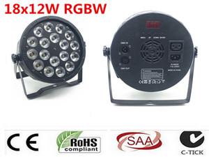 LED Par 18x12 W RGBW 4IN1 renk ışık led ışık kontrolörü DMX Led Parlamentosu Luci dj