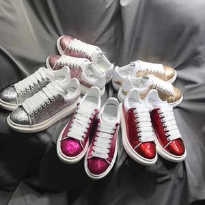 Italia Des Chaussure de lujo de las zapatillas de deporte de la plataforma Formadores con la caja de diseño en las zapatillas de deporte de gran tamaño informal Hombres Mujeres blanco de la manera