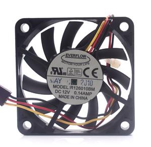Вентилятор EVERFLOW R126010BM 6010 DC 12V 0.14A 3-проводной 3-контактный 6010 6cm 60x60x10mm Server Square fan
