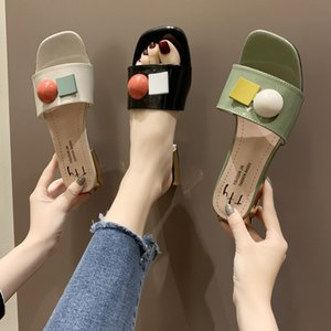 슬리퍼 여성 여름 신발 낮은 셰일 여자 비치 Pantofle 슬라이드 평면 사 보트 2020 패션 로마 직물 PU