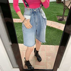 Vintage High Waist Loose Straight Women Denim Shorts Elegant Tassel Denim Blue Jeans Shorts Femininas 2020 Spring Summer