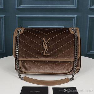 2020 дизайнерская роскошная сумочка дизайнерская сумка женская сумка металлическая цепочка бархат и воловья кисточка украшения модель: 262150-0 A125