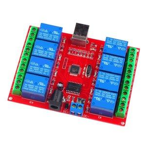 DC12V huit canaux USB Conseil Module relais Programmable Ordinateur
