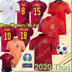 Camiseta España 2020 Espanha camisa de futebol PACO MORATA A.INIESTA PIQUE 2020 European Cup ALCACER SERGIO ALBA ramos isco futebol camisa uniforme