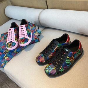 CALIENTE 2020 nuevas mujeres de la zapatilla de deporte psicodélicas Ace zapatillas de deporte clásicas de los zapatos del diseñador de moda de lujo magia zapatos de mujer de alta calidad de color rosa negro