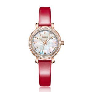 Julius New Designer-Uhr-koreanische stilvolle Kristall-Uhr für Frauen Blau Modern Kleid Uhr Japan Uhrwerk Montre Stunden-JA-1079