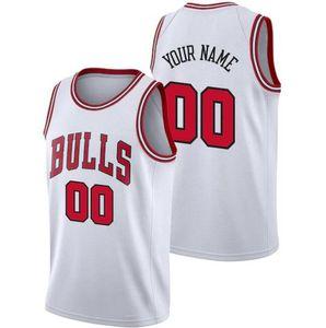 Özel erkekler basketbol forması ŞikagoBullsHerhangi bir ad ve numara swingman basketbol Jersey