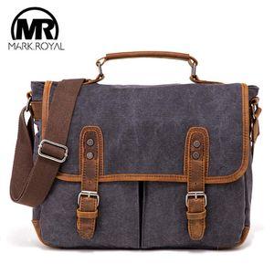 MARKROYAL New Vintage холст сумка для мужчин Высокое качество Сумка Business Travel Crossbody сумки Слинг ретро