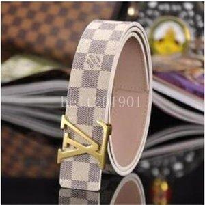 Designer Belt Men and Women Fashion BeltsLvS Women Genuine Leather Belt More Color Buckle Leather belts with box