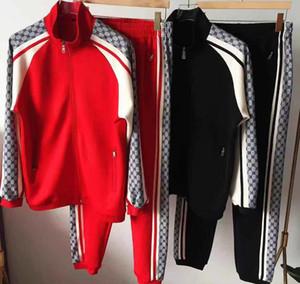 19ss Fashion Designe Hommes Survêtement Set Zipper Hoodies Veste Survêtement Survêtements Deux pcs Ensemble Formation jogging survêtement survêtements 2xl
