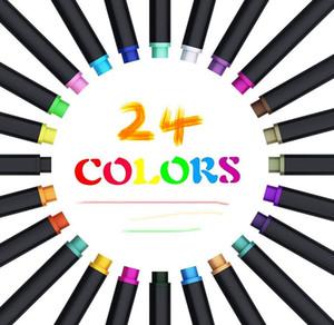 플래너 펜 Fineliner 컬러 그리기 마커 일지 쓰기를 적어 둡니다 달력 의제 스케치 예술 사무실 펜 24colors 공급