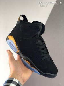 New Big size Black yellow 6 6s Basketball Shoes kanye mens CNY Carmine Gatorade Tinker UNC Black Css