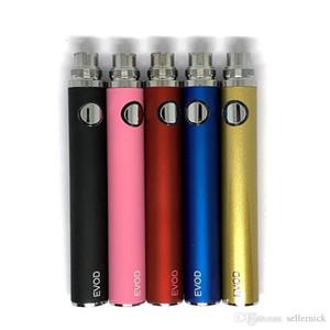 TOP Colorful EVOD Battery 650mah 900mah 100mah E-cigarette Battery for MT3 CE4 CE5 CE6 E cig Kit Instock DHL free shipping N