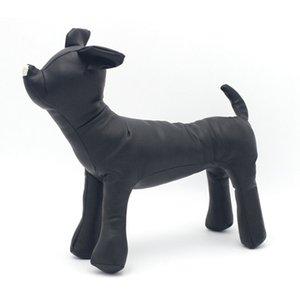 Büyük anlaşma Deri Köpek Mankenler duruş pozisyonu Köpek Modelleri Oyuncak Pet Hayvan Dükkanı Ekran Manken Siyah S