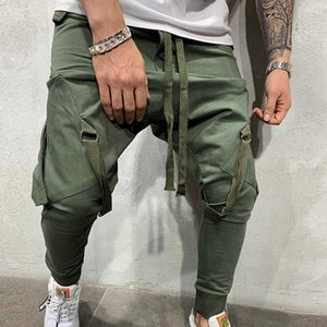 Модные новые уличные тренировочные брюки для мужчин причинно-следственные спортивные брюки сплошной цвет Модные мужские хип-хоп тренировочные брюки Брюки
