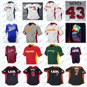 2013 World Baseball Classic Team США Испания Австралия Куба 5 Дэвид Райт 7 Джо Мауэр 40 Сишек 43 ДИКИ На поле