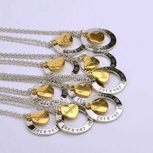 Her zaman benim Kalp Aile Üyesi kolye Aşk Büyükbaba amca teyze anne baba kardeş moda mücevher