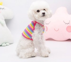 2020 spring and summer dog clothes thin section breathable fun pet new Teddy Bichon puppy Kitty cat casual clothing wholesale factory supply