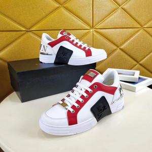 Novo Modelo de Qualidade Superior Modelo Sapatos Casuais Reaction Sapatos de Grife Ocasionais de Couro Aumento Andar Sapatos Trainer ht190604