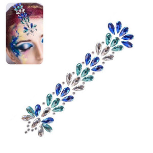 3D Rhinestone Jewelry Fashion Face Adornment Hair Glitter Shiny Crystal Sticker Festival Adhesive Hairdressing Body Party Tattoo
