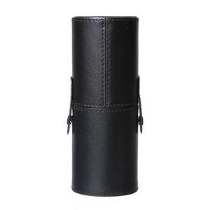 Black leather brush Blank Holder Make Up Artist Bag Makeup Box Storage Box