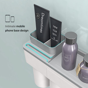 Plastic Toothbrush Holder With Cup Case For Tooth Brush Dispenser Organizer Shaver Makeup Toothpaste Storage Bath Accessories