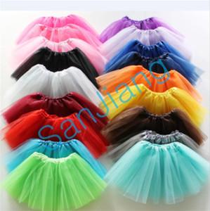 INS Summer Girls saia tutu verão Bebê plissadas Gauzy Tutus mini saias bolha sólida Ballet Malha Vestidos Dance Party vestido Crianças pano E3609