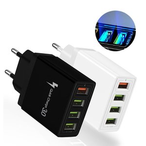 4usb Charger Quick Charge 3.0 QC3. 0 Fast Charger Mobile Phone Charger for iPhone Samsung Huawei