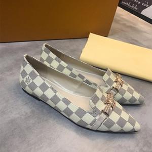 2020 Luxe Lady printemps et en automne chaussures simples Mode femme robe Pady chaussures talon plat intérieur Chaussures de haute qualité comfortble chaussures de pois