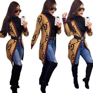 Yeni Marka Tasarım Kadın Coat Baskı Uzun Dış Giyim Markaları Kabanlar Ceketler ve Mont Artı boyutu