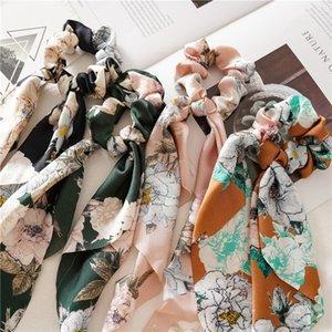 Yaz Stili Çiçek Kadınlar Şapkalar DIY Bow Akıntıları Saç Scrunchies Kurdele Saç Halat Bağları Horsetail Bağları Aksesuarlar