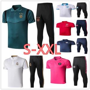 Real Madrid Ajax трикотажные рубашки поло мужчин футбол костюм 2019 2020 футбольный клуб поло комплект S-XXL