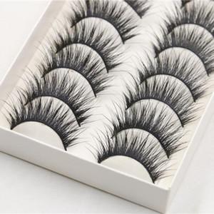 10 paia lungo fine morbida del partito cigli falsi naturali giornaliera professionali Strumenti di trucco ciglia finte Eye Makeup Cosmetic Z3