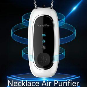 Purificador de ar USB portátil Pessoal Wearable Colar ionizador ionizer Anion Air Fresher Não há ruído Nenhum RADION NEWESET com exposição