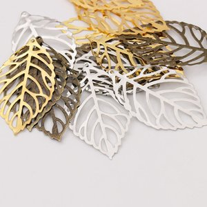 3 Size DIY Accessories Vintage Alloy Hollow Out Leaves Charms For Earrings Necklaces Hair Wear Jewelry Findings Components