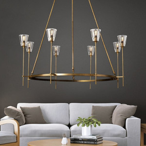 Loft Retro Lustre Led Chandelier For Living Room Indoor Lighting Fixtures RH American Deco Pendant Chandelier Lighting LLFA
