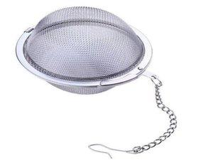 Filtro Bola de aço inoxidável Tea Pot Infuser Sphere malha coador de chá Filler bola 5 centímetros Atacado