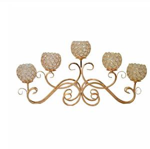 1 pièce Creative articles d'ameublement européen de cristal chandelier / romantique aux chandelles en fer forgé dîner / 5 chandelier tête