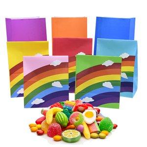 5pcs / set del modello arcobaleno con nube Kraft Carta da regalo Bag Cookie Confezionamento Caramelle accessori per la Borsa Per Matrimonio festa di compleanno Deco