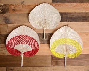 50PCS 팜 팬 수제 위커 여러 가지 빛깔의 팜 팬 전통 중국 공예 홈 장식 잎