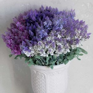Provence lavender Flower Silk Artificial Flowers Small Bouquet Flores Home Party Spring Wedding Decoration Mariage Fake Flower