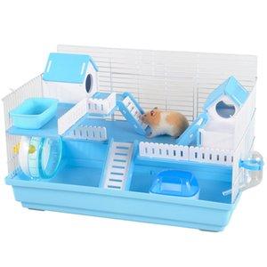 Hamster cage gift bag 47 foundation acrylic golden bear villa hamster large double-decker complete nest